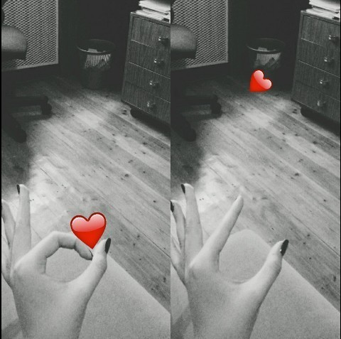 heart, black, and red image