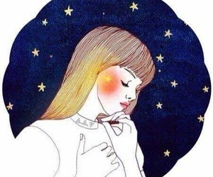 colors, girl, and stars image