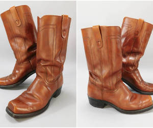 etsy, vintage boots, and motorcycle boots image