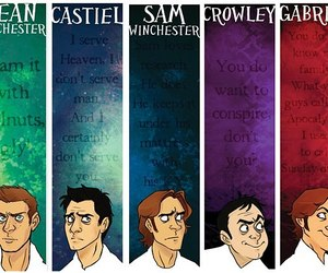 supernatural, crowley, and gabriel image