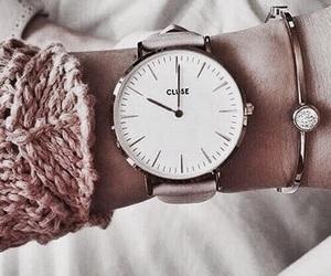 fashion, pink, and watch image