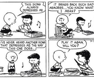 music, peanuts, and charlie brown image