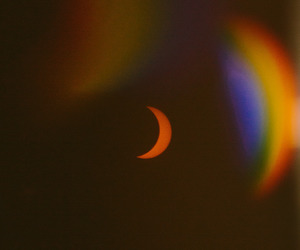 moon, rainbow, and aesthetic image