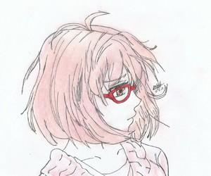 anime, glass, and pink image