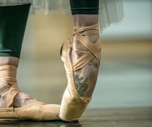 ballet, dance, and ballet slippers image