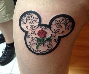 tattoo, disney, and flower image