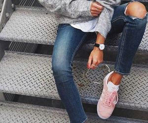 accessories, details, and ripped jeans image