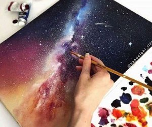 art, painting, and galaxy image