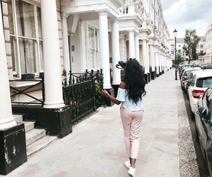 city, girl, and london image