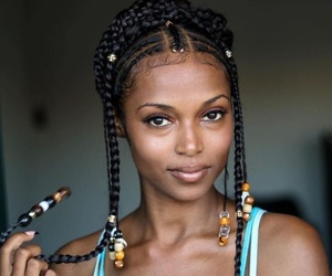 African, tribe, and black woman image