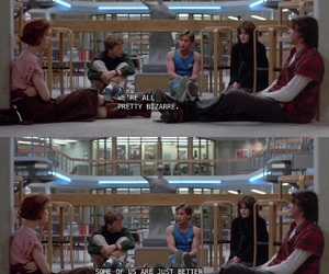 The Breakfast Club, movie, and bizarre image