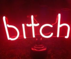 red, bitch, and neon image