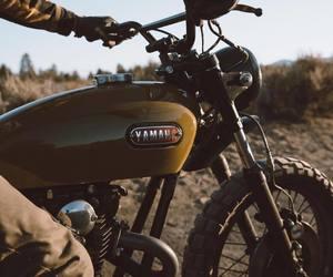 brown, motorbike, and motorcycle image