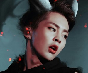 exo, xiumin, and fanart image