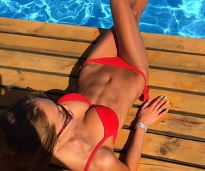 abs, beauty, and tan image