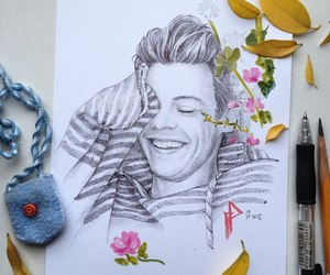 art and harrystyles image