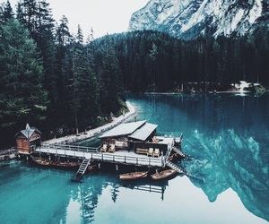 nature, landscape, and water image