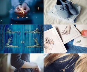 aesthetic, art, and blue image