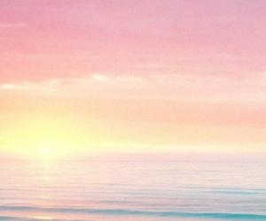 sea, beach, and sunset image