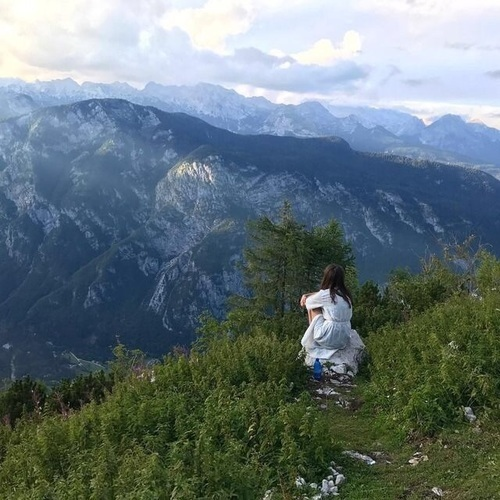 adventure, girl, and mountains image