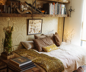 room, book, and bedroom image