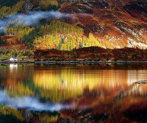 nature, reflection, and scotland image