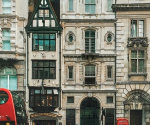 art, london, and buildings image