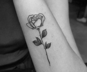 arm, flower, and hand image