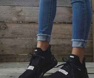 puma, sneakers, and feet image
