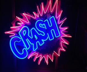 neon, light, and crash image