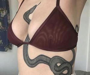 tattoo, snake, and tumblr image
