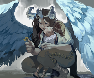 colour, digital art, and harpy image