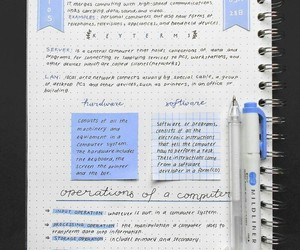 notes, study, and school image