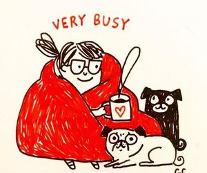 busy, puppy, and cat image