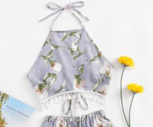 elegant, fashion, and flowers image