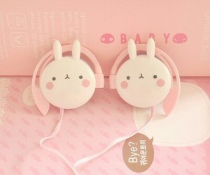 kawaii, cute, and headphones image