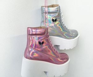 alien, boots, and pink image