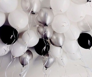balloons, tumblr, and white image