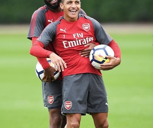 Arsenal, alexis sanchez, and alexandre lacazette image
