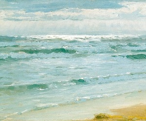 impressionism, ocean, and Oil Painting image