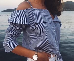 chic, fashion, and lake image