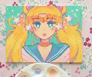 painting and sailor moon image