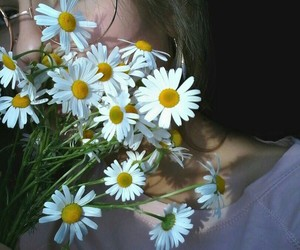girl, flowers, and goals image