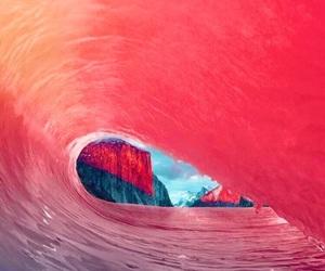pink, wallpaper, and ocean image