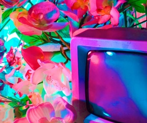 flowers, aesthetic, and neon image