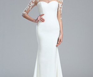fashion, long dress, and wedding dress image