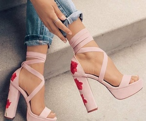 nudes, floral, and shoes image