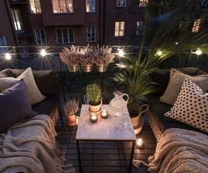 home, balcony, and light image
