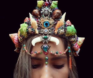 beach, beauty, and crown image