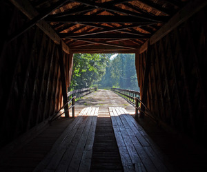 country life, country road, and covered bridge image